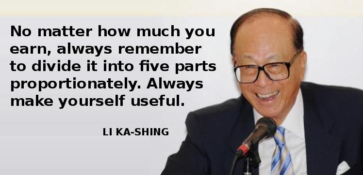 Li Ka Shing Advice